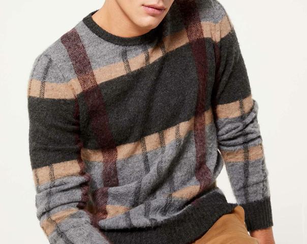 Check sweater